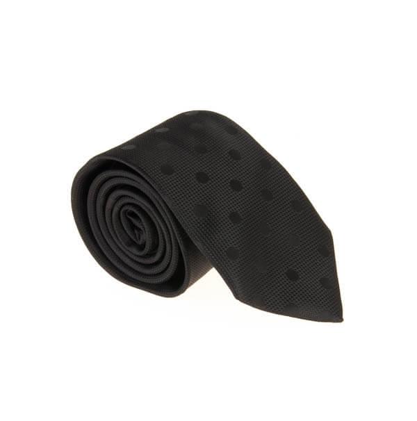 کراوات طرح دار مردانه مشکی کد T1093