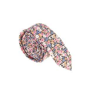 ست کراوات و دستمال جیب طرح دار کد T1083