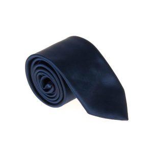 کراوات ساده مردانه سورمه ای کد T1132