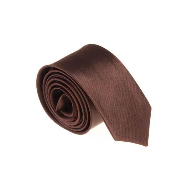 کراوات ساده مردانه قهوه ای کد T1134