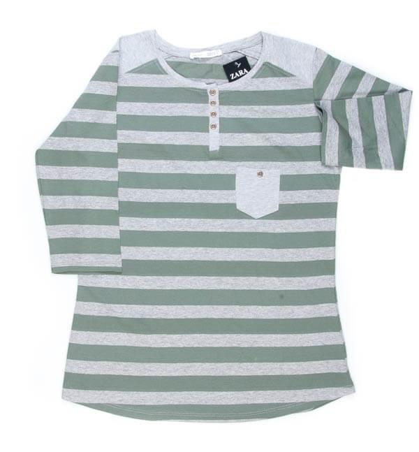 تی شرت زنانه آستین دار ZARA کد TO1022