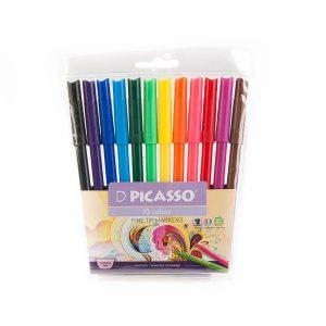 ماژیک 12 رنگ پیکاسو picasso کد stma1001