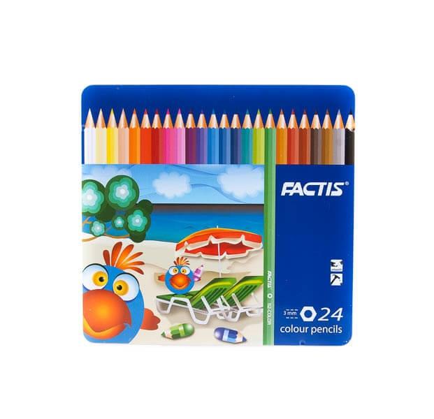 مداد رنگی 24 رنگ factic کد stcp1004