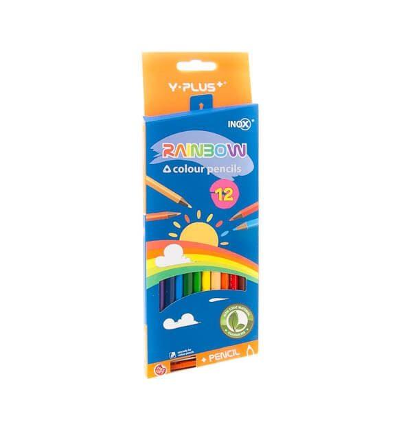 مداد رنگی 12 رنگ rainmoeکد stcp1010