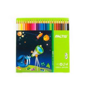 مداد رنگی 24 رنگ factis کد stcp1022