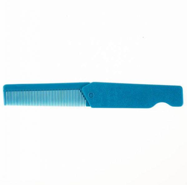 شانه جیبی تاشو آبی رنگ