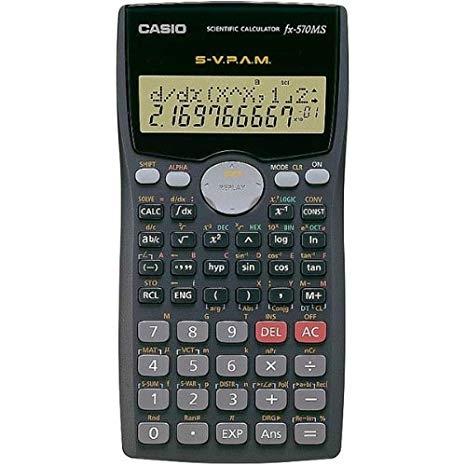 ماشین حساب کاسیو casio کد fx-570ms