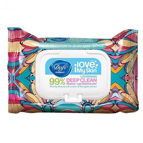 دستمال مرطوب آرایش پاک کن دافی 27 عددی