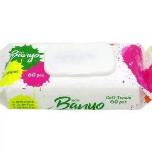دستمال مرطوب آنتی باکتریال بانیو 60 عددی