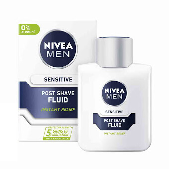 افتر شیو نیوآ sensitive post fluid حجم 100ml
