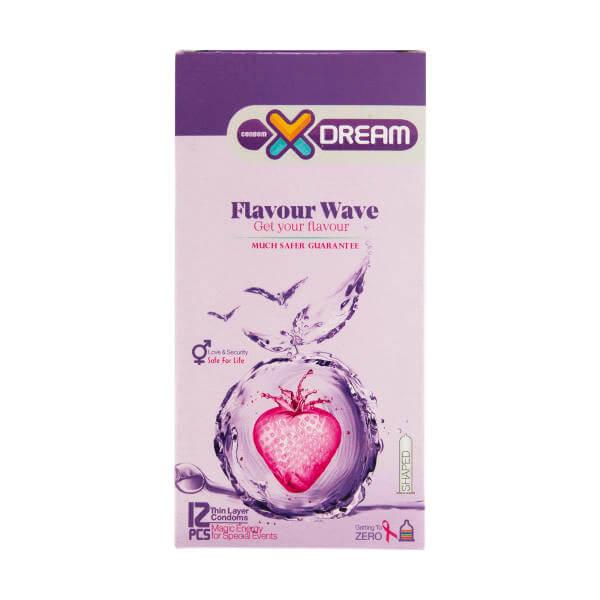 کاندوم ایکس دریم مدل Flavour Wave کد xd2002