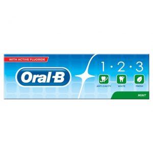خمیر دندان اورال بی مدل 1.2.3 نعنایی حجم 100ml