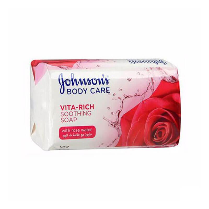 صابون جانسون مدل Sooting Soap حاوی عصاره رز