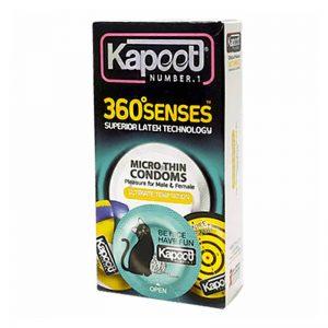 کاندوم کاپوت مدل 360 Sense بسته 12 عددی