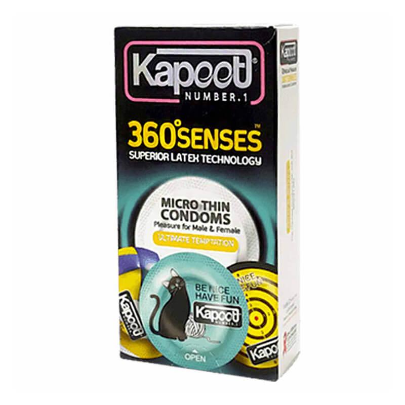 کاندوم کاپوت مدل 360 Senses بسته 12 عددی