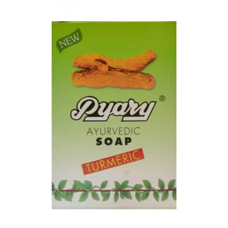 صابون زردچوبه ارگانیک برند پیاری pyary حجم 75gr