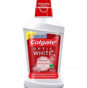 دهان شویه کلگیت مدل optic white حجم 500ml