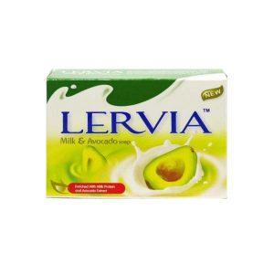 صابون شیر و آواکادو لرویا lervia حجم 90 گرم