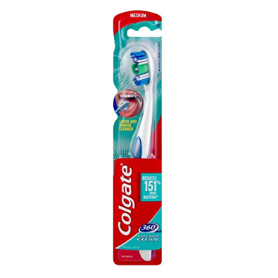 مسواک کلگیت Colgate مدل WHOLE MOUTH CLEAN متوسط