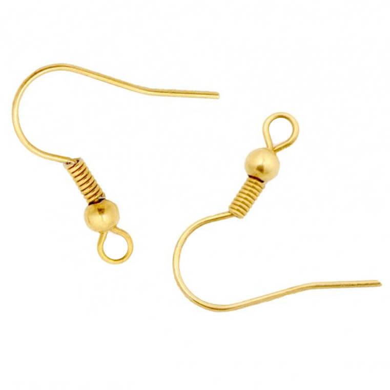 عصای گوشواره طلایی فنر دار بسته 20 عددی