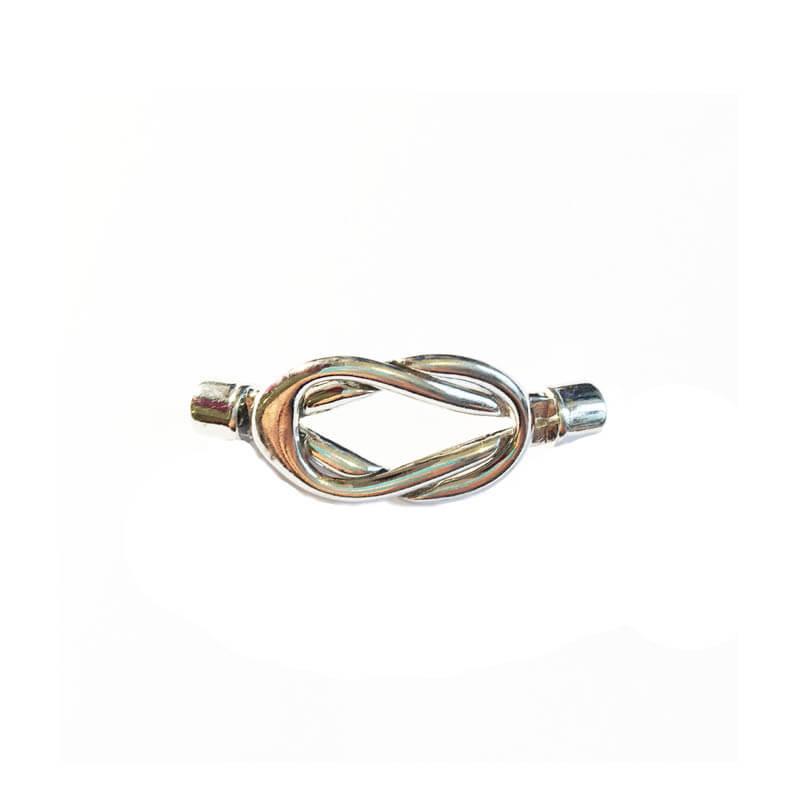 بین کار دستبند نقره ای 4.5cm