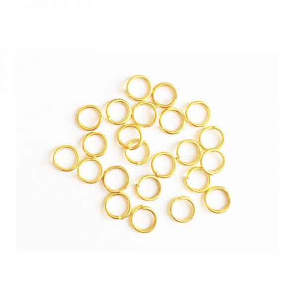 حلقه اتصال زیورآلات طلایی سایز 6mm بسته 30 عددی