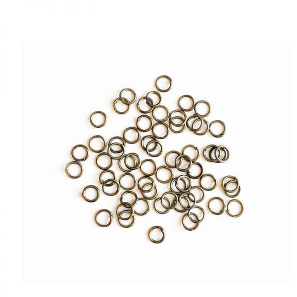 حلقه اتصال زیورآلات نقره ای تیره