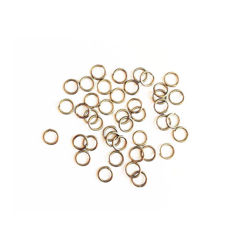 حلقه اتصال زیورآلات نقره ای 6mm بسته 100 عدد