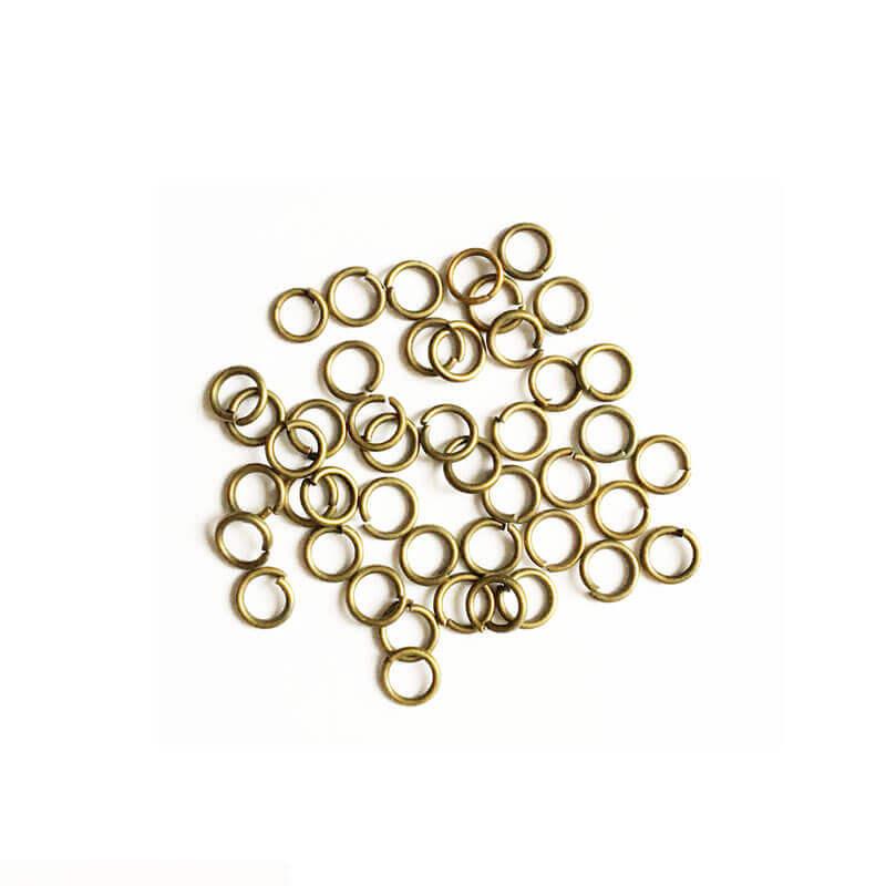 حلقه اتصال زیورآلات زرد قلم سایز 4mm بسته 100 عددی