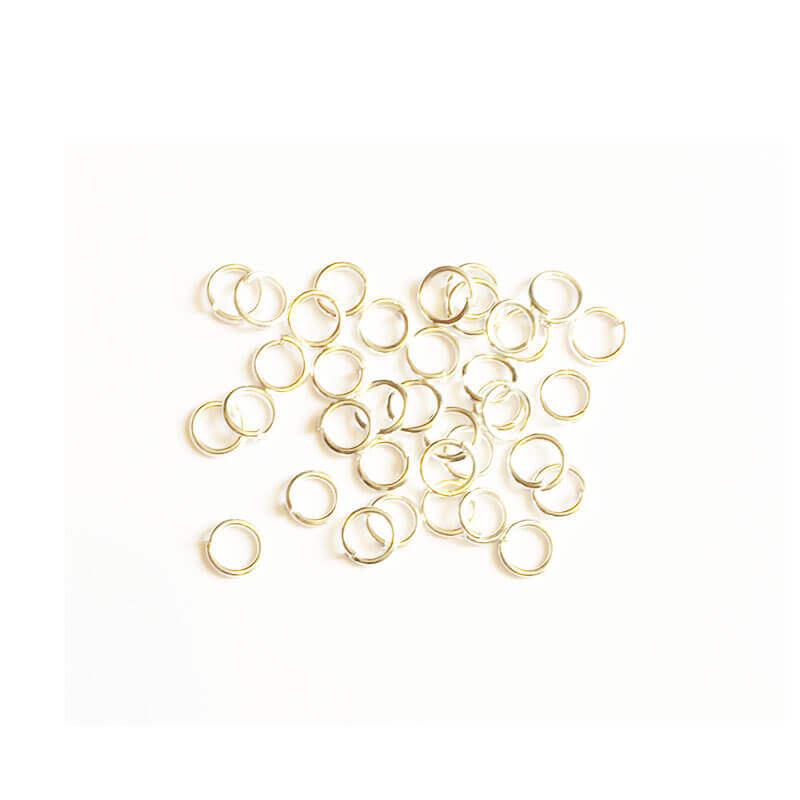 حلقه اتصال زیورآلات نقره ای روشن سایز 4mm بسته 100 عددی