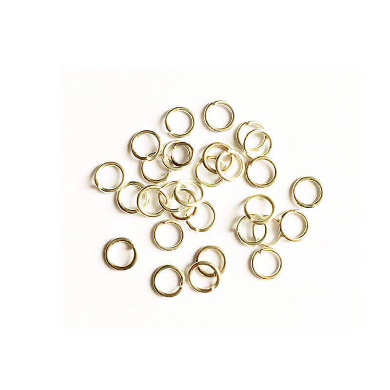 حلقه اتصال زیورآلات نقره ای 4mm بسته 100 عدد