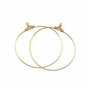حلقه گوشواره طلایی 40mm بسته دو عددی