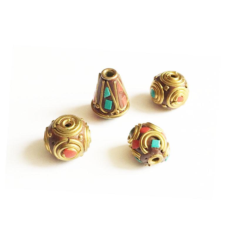 خرج کار دستبند – گردنبند طلایی قهوه ای بسته 4 عددی