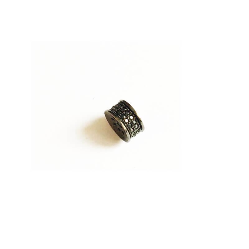 خرج کار نگین دار استوانه مشکی Swarovski سواروسکی 4mm