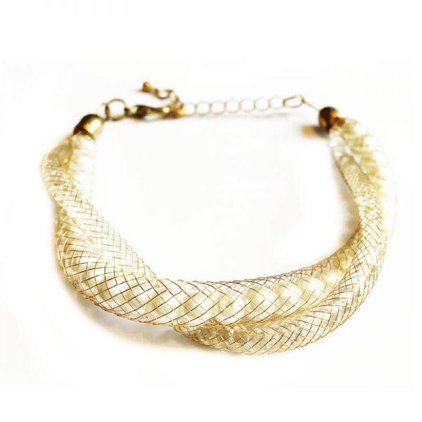 دستبند زنانه طلایی WBR1001