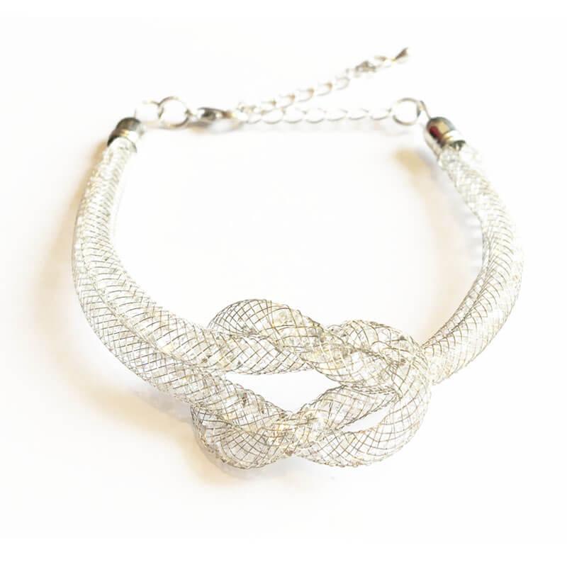 دستبند زنانه نقره ای WBR1001