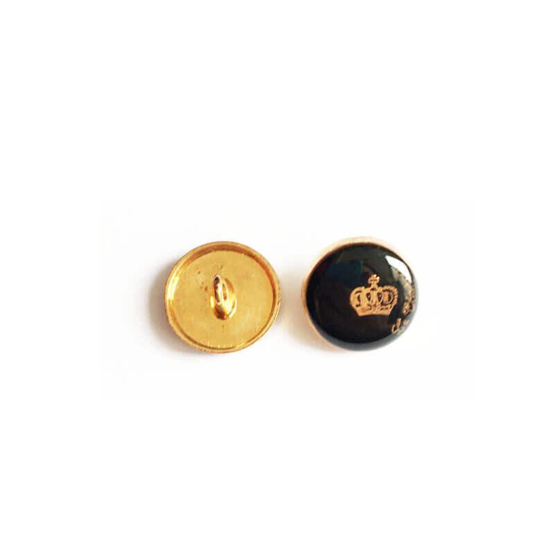 دکمه طرح تاج مشکی 15mm