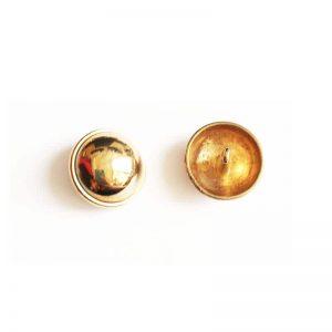 دکمه فلزی برنزی ساده 2cm