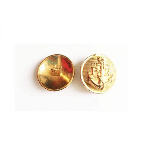 دکمه فلزی برنزی طرح لنگر 2cm