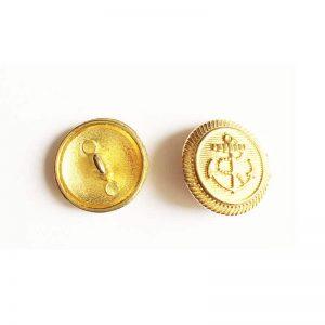 دکمه فلزی طلایی طرح لنگر 2cm