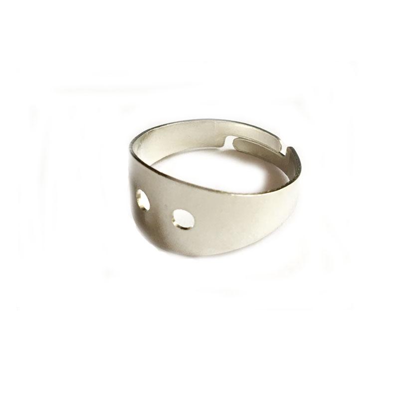 رکاب انگشتر نقره ای مدل rb1003 بسته 2 عددی