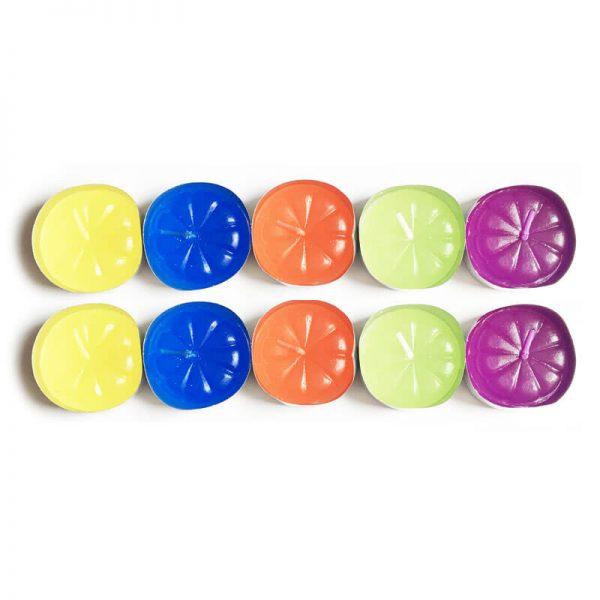 شمع وارمر 5 رنگ بسته 10 عددی