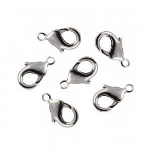 قفل دستبند طوطی نقره ای استیل