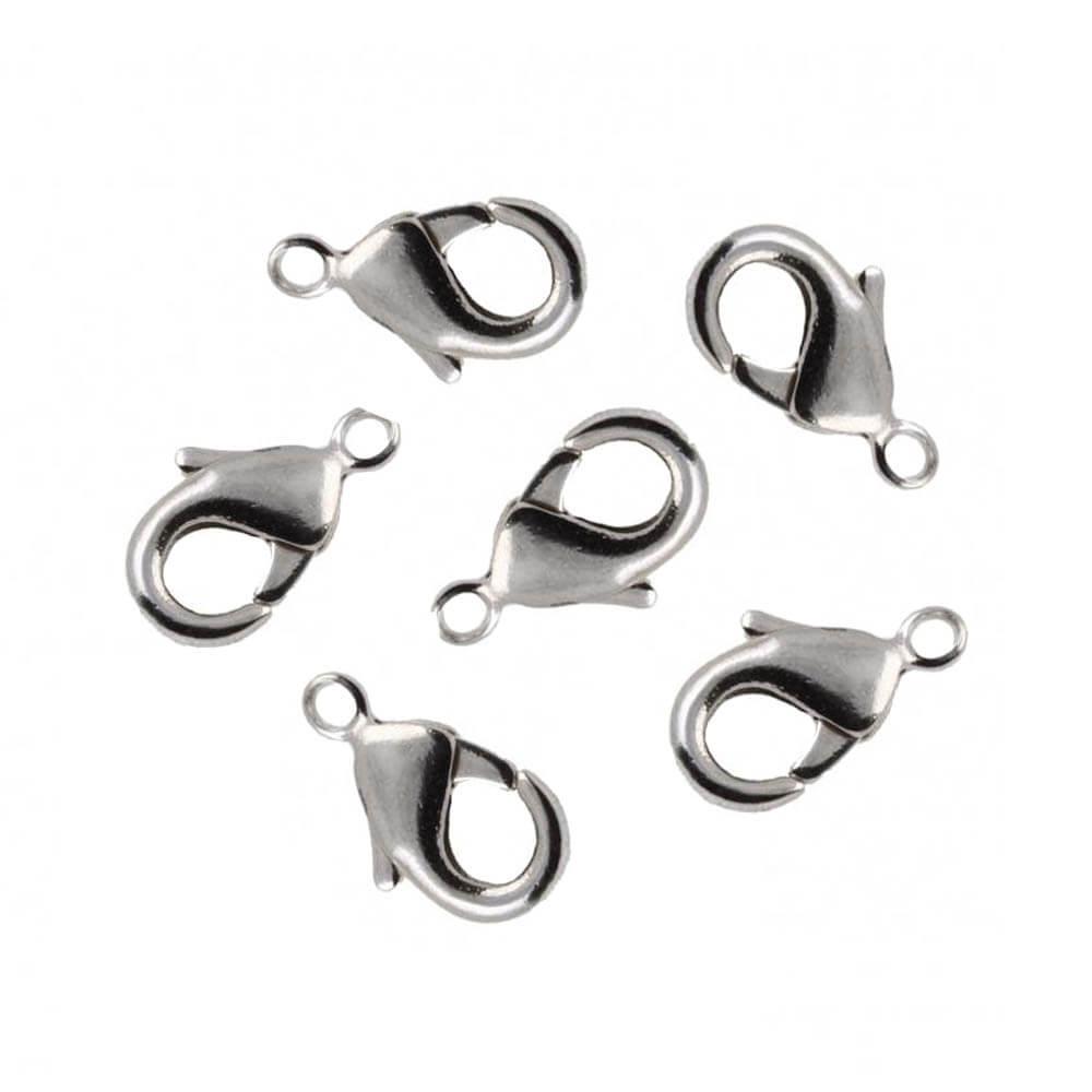 قفل دستبند طوطی نقره ای استیل بسته 2 عددی