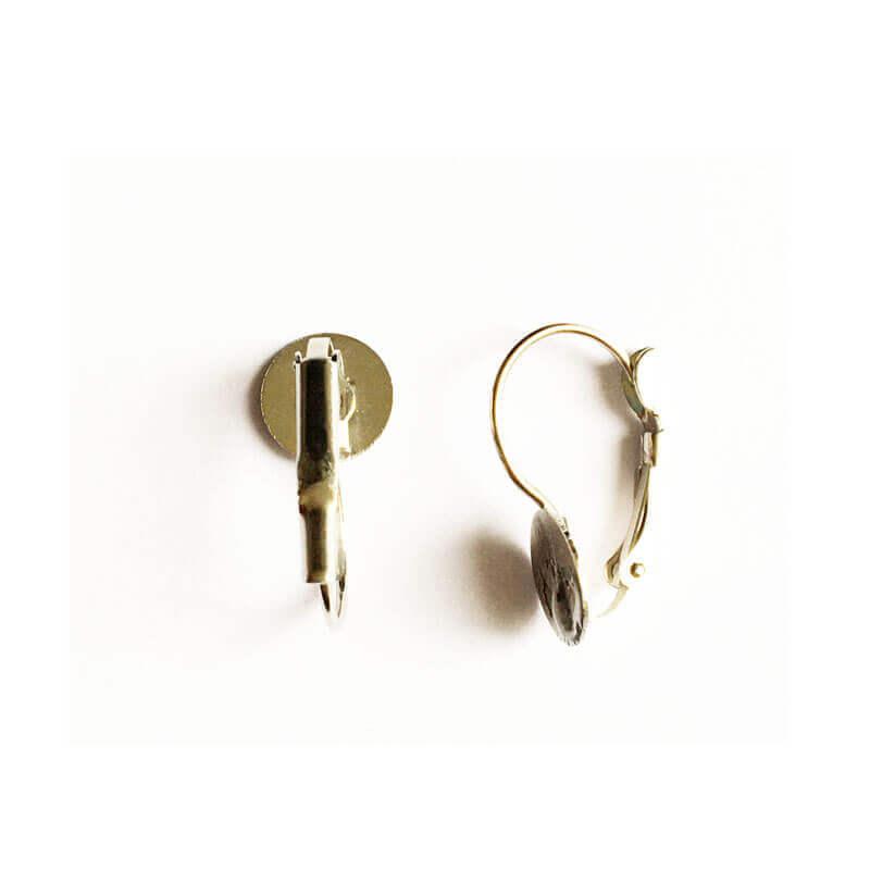 پایه گوشواره استیل نقره ای 20mm بسته دو عددی