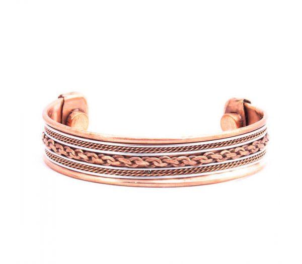 دستبند فلزی مسی CU1005