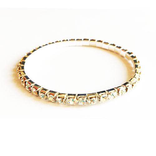 دستبند نگین دار نقره ای زنانه