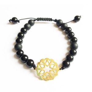 دستبند سنگی طلایی PM1034