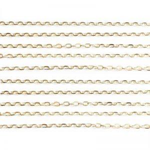 زنجیر نقره ای روشن سایز 3mm