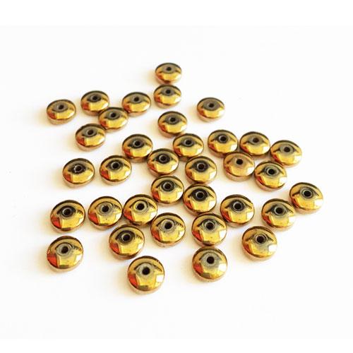 سنگ حدید براق بین کار طلایی 6x3mm بسته 45 عددی